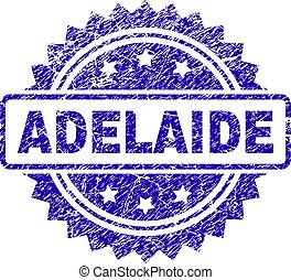 Scratched ADELAIDE Stamp Seal