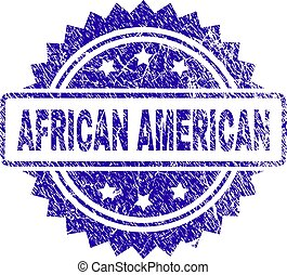 Scratched AFRICAN AMERICAN Stamp Seal
