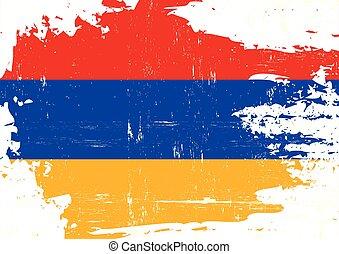 Scratched armenian flag
