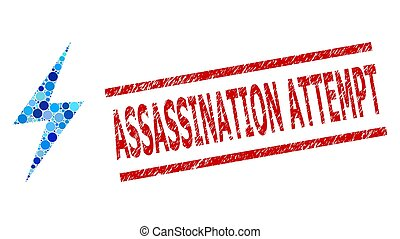 Scratched Assassination Attempt Watermark and Electric Spark...