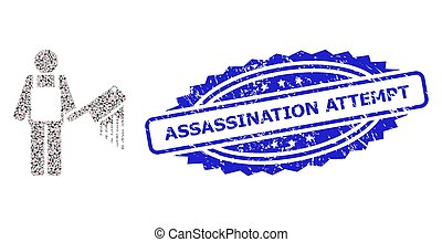 Scratched Assassination Attempt Watermark and Fractal Bloody...