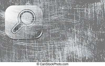 scratched background and transparent magnifier