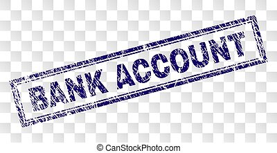 Scratched BANK ACCOUNT Rectangle Stamp - BANK ACCOUNT stamp...