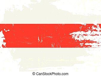 Scratched belarusian flag