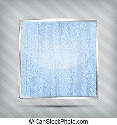 scratched blue icon