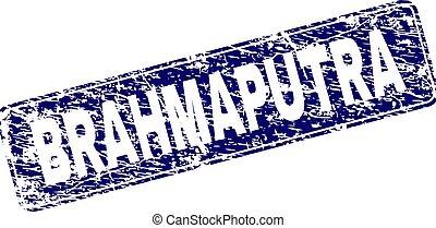 Scratched BRAHMAPUTRA Framed Rounded Rectangle Stamp -...