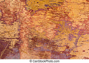 Scratched brass metal plate