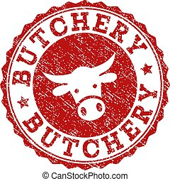 Scratched BUTCHERY Stamp Seal