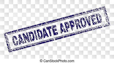 Scratched CANDIDATE APPROVED Rectangle Stamp