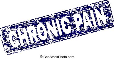 Scratched CHRONIC PAIN Framed Rounded Rectangle Stamp -...