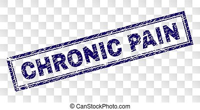 Scratched CHRONIC PAIN Rectangle Stamp - CHRONIC PAIN stamp...