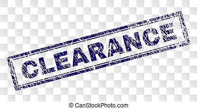 Scratched CLEARANCE Rectangle Stamp