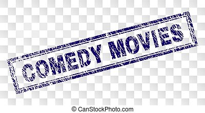 Scratched COMEDY MOVIES Rectangle Stamp