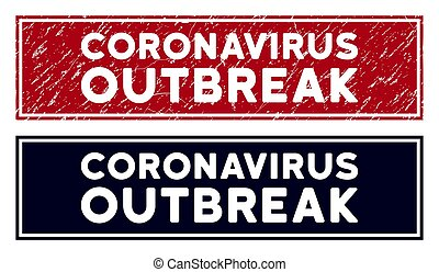 Scratched Coronavirus Outbreak Rectangular Stamp