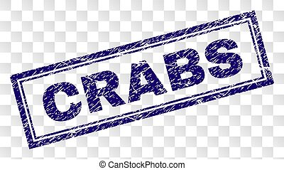 Scratched CRABS Rectangle Stamp
