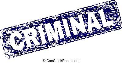 Scratched CRIMINAL Framed Rounded Rectangle Stamp