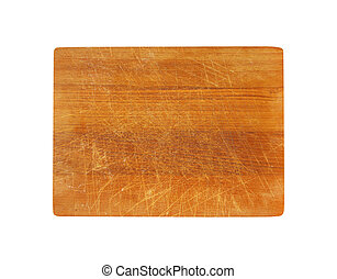 Scratched cutting board - Old rectangle wooden cutting board