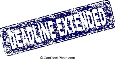Scratched DEADLINE EXTENDED Framed Rounded Rectangle Stamp