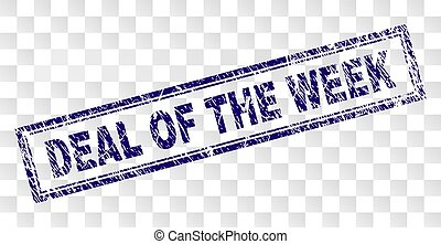 Scratched DEAL OF THE WEEK Rectangle Stamp