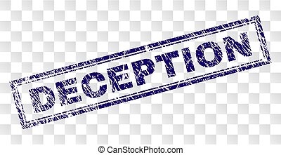 Scratched DECEPTION Rectangle Stamp - DECEPTION stamp seal...