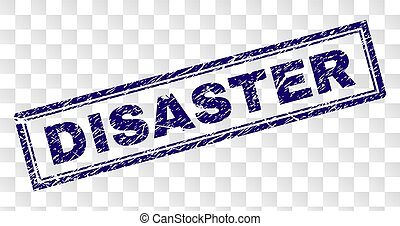 Scratched DISASTER Rectangle Stamp - DISASTER stamp seal...
