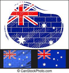 Scratched flag of Australia