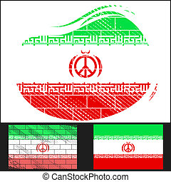 Scratched flag of Iran