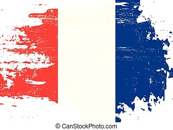 Scratched french Flag