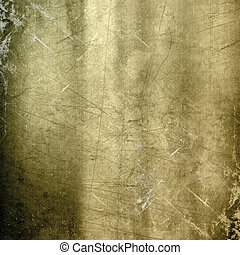 Scratched gold metallic background