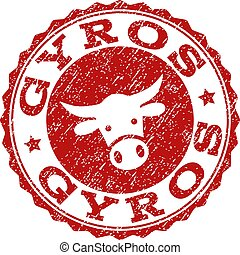 Scratched GYROS Stamp Seal