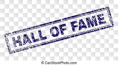 Scratched HALL OF FAME Rectangle Stamp