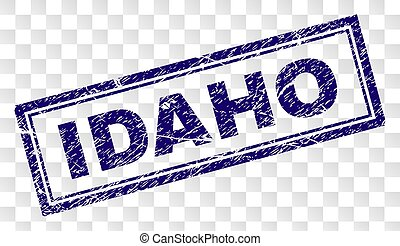 Scratched IDAHO Rectangle Stamp