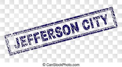 Scratched JEFFERSON CITY Rectangle Stamp - JEFFERSON CITY...