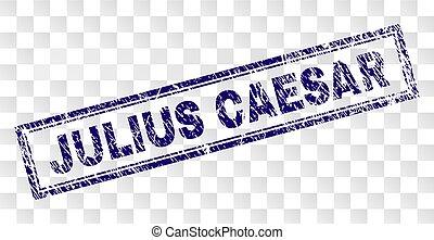 Scratched JULIUS CAESAR Rectangle Stamp - JULIUS CAESAR...