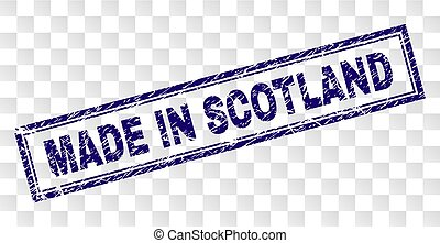 Scratched MADE IN SCOTLAND Rectangle Stamp