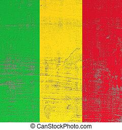 Scratched Mali flag