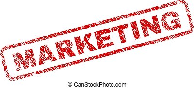 Scratched MARKETING Rounded Rectangle Stamp