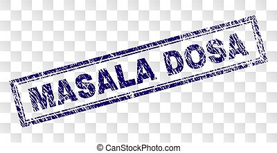 Scratched MASALA DOSA Rectangle Stamp