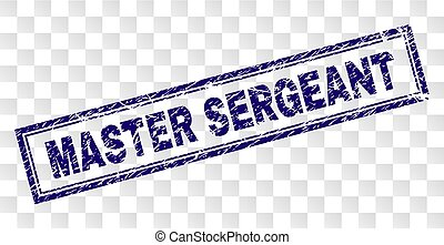 Scratched MASTER SERGEANT Rectangle Stamp - MASTER SERGEANT...