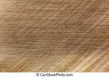 Scratched metal background - Scratched brushed brass metal...