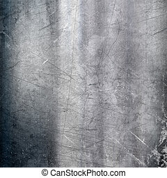 Scratched metallic background - Metallic background with a...