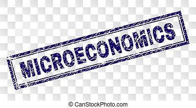 Scratched MICROECONOMICS Rectangle Stamp - MICROECONOMICS ...