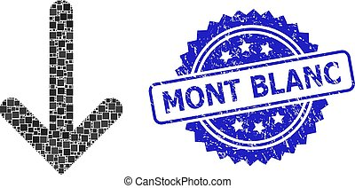 Scratched Mont Blanc Seal and Square Dot Down Arrow ...