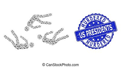 Scratched Murdered Us Presidents Round Watermark and ...