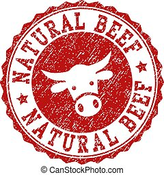 Scratched NATURAL BEEF Stamp Seal