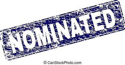 Scratched NOMINATED Framed Rounded Rectangle Stamp