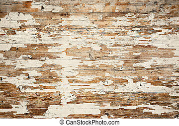 scratched painted wood