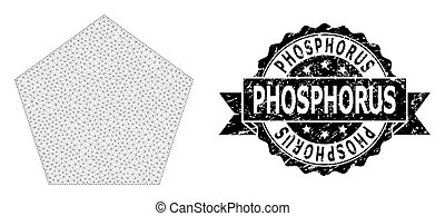 Scratched Phosphorus Ribbon Seal Stamp and Mesh 2D Filled ...