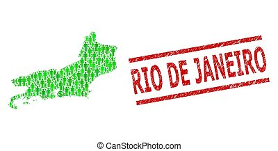 Scratched Rio De Janeiro Watermark and Green Customers and ...