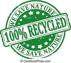 100% recycled, we save nature